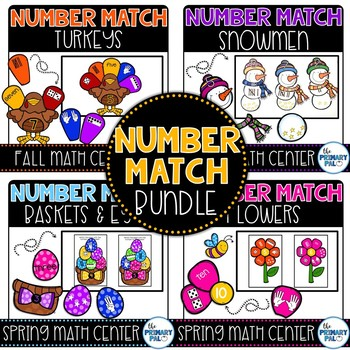 Number Match Bundle: Math Center Activities