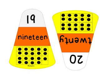 Number Match Candy Corn Center