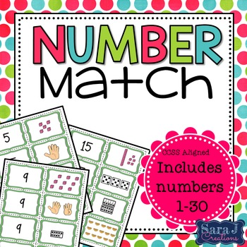Number Match Card Game (1-30)