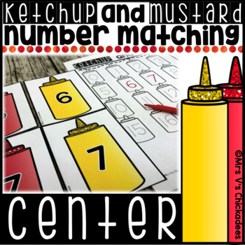 Number Match Center 0-20:Ketchup and Mustard