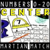 Number Match Center 0-20: Martian Match