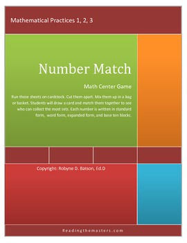 Center Game: Number Match