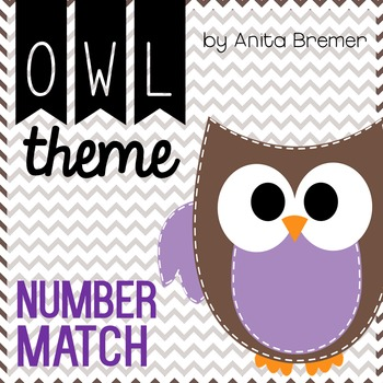 Owl Theme Number Match