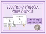 Number Match Clip Cards Math Center