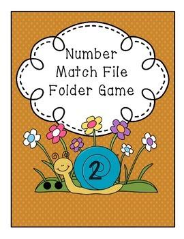 Number Match File Folder Game