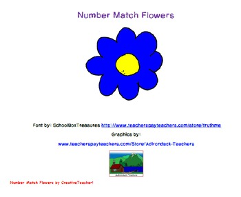 Number Match Flowers