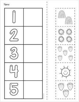 Number Match Math Activity