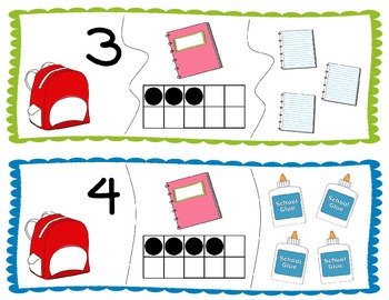 Number Match Math Center FREEBIE! - Number Identification, Ten Frames, Counting