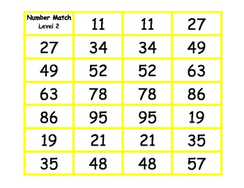 Number Match Memory Game (FREEBIE)