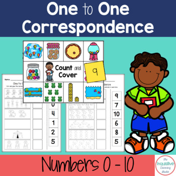 Number Match / One to One Correspondence Printable Worksheets Numbers 0-10