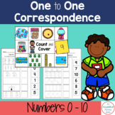 Number Match | One to One Correspondence Printable Worksheets Numbers 0-10