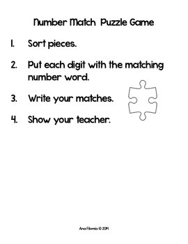 Number Match Puzzle Activity