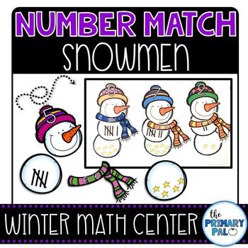 Number Match Snowmen