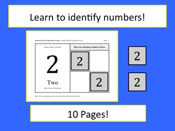 Number Match Task Book