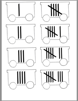 Number Match Trains 1-8