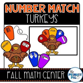 Number Match Turkeys