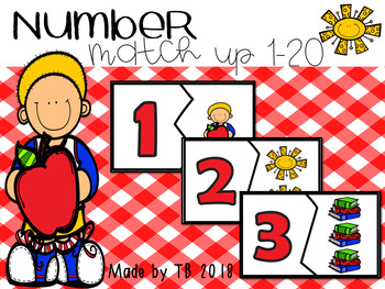 Number Match Up 1-20