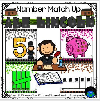 Number Match Up Abe Lincoln