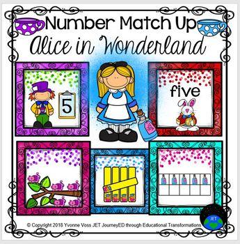 Number Match Up Alice in Wonderland