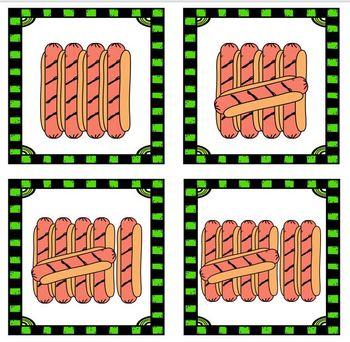 Number Match Up BBQ Math Center