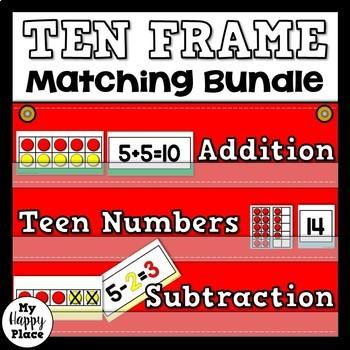 Ten Frame Math Centers Bundle