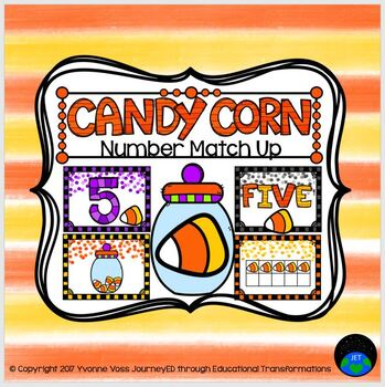Number Match Up Candy Corn