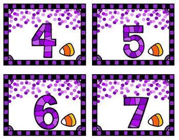 Candy Corn Number Match Up