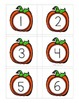 Number Match Up Cards One to One Correspondence FALL PUMPK