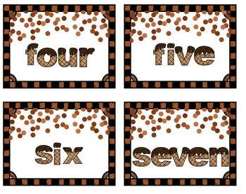 Number Match Up Chocolate and Vanilla Ice Cream Math Center