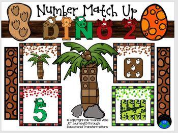 Number Match Up Dino 2 Math Center