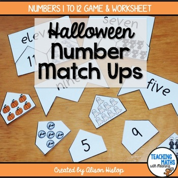Number Match Up - Halloween