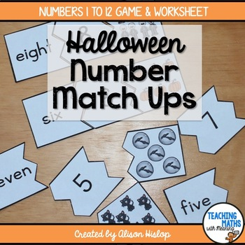 Number Match Up - Halloween