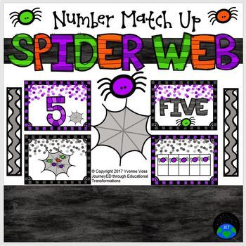 Number Match Up Spider Web