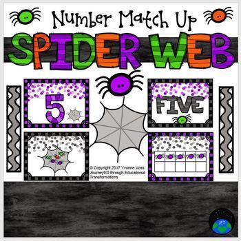 Spider Web Number Match Up