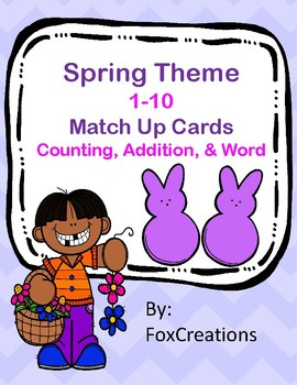 Number Match Up~ counting, number word and addition
