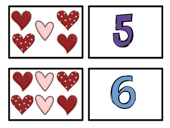Number Match- Valentine's Edition