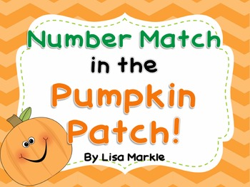 Number Match in the Pumpkin Patch Matching Activity for Pr