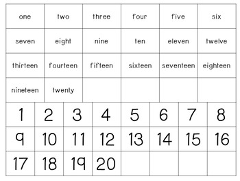 Number Match to 20- Spring Themed Counting Bugs