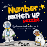 Number Match up puzzles - Space theme