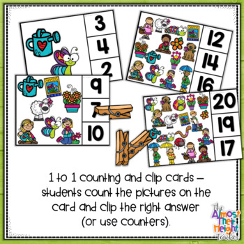 Number Matching 0-20 - Spring Number Matching & clip activities