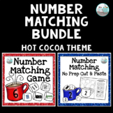 Number Matching 1-20 Bundle - Winter Hot Cocoa