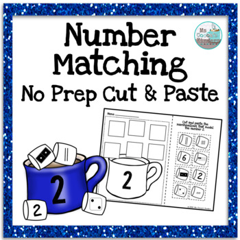 Number Matching 1-20 - No Prep Cut and Paste