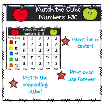 Number Matching 1-30