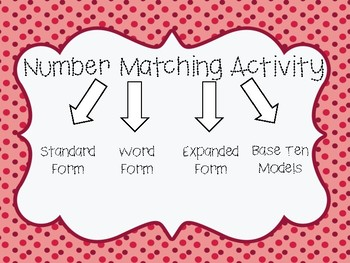 Number Matching Activity 60-120
