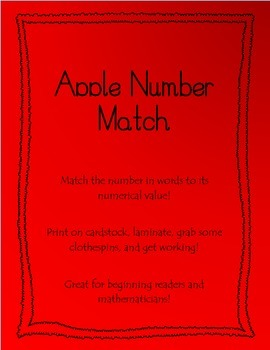 Number Matching Apples