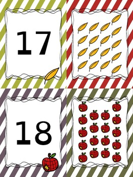 Number Matching Card Game or Classroom Banner