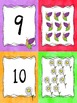 Number Matching Card Game or Classroom Banner - Spring