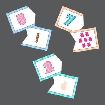 Number Matching Card Package (6 Different Types of Cards) (from 0 to 10)