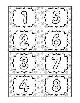 Number Matching Card Set- 1-30