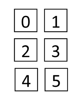 Number Matching Cards 0-20